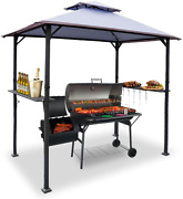 Warmally 8'x5' Grill Gazebo Bbq Patio Shelter Canopy For Outdoor Barbecue Tent A