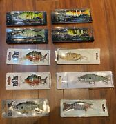 Lot Of 10 New Jointed Swimbaits