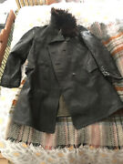 Genuine Ww2 Soviet Russian Naval Officers Leather Trench Coat Military