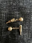 Novelty Solid Sterling Silver Cricket Bat And Ball Cufflinks