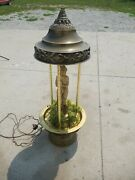 Vintage 1970andrsquo Hanging Mineral Oil Rain Lamp Nude Lady Greek Goddess Rare