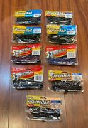 Lot Of 9 Brand New Packs Of Berkley Powerbait 10 Inch Power Worms And 10 In Squirm