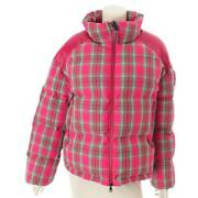 Authentic Moncler Chou Bijou Check Down Jacket Pink Size 3 Never Used