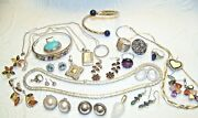 7 Oz Sterling Silver Jewelry Lot Rings Earrings And More No Scrap