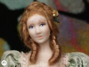 465 Porcelain Lady In Green Miniature Dollhouse Doll