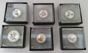 2018 And 2019 Tuvalu 1oz And 1/2oz Silver Proof Coin Looney Tunes Set W Box And Coa