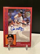 2019 Topps Baseball Series 1 Don Mattingly Red Auto Autograph Silver Pack 24/25