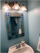Chic Country Mosaic Rectangle Wall Mirror