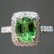 Solid 950 Platinum 2.10 Ct Luxurious Emerald And Diamond Wedding Ring Size 4 5 6 7