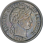 1892-p Barber Dime Great Deals From The Executive Coin Company