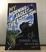 My Morning Jacket W/ The Boston Pops Orchestra Signed Concert Poster June 2006