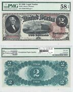 1880 2 Legal Tender Fr 52 Pmg Choice About Uncirculated-58 Epq