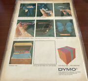 1966 Vintage Dymo Label Maker Turn The Wheel Squeeze Handle Ad