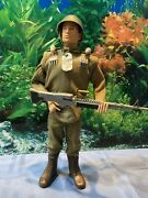 1966 Gi Joe Vintage Talking Action Soldier With Heavy Weapons
