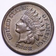 1888 Indian Head Cent Penny Reverse Die Crack Choice Bu Free Shipping E710 Kccm