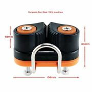 Composite Ball Bearing Fast Entry Rope Cam Cleat Marine Boat Hardwares Well 2pcs
