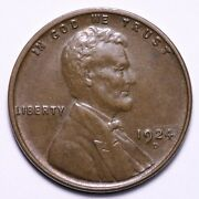 1924-d Lincoln Wheat Cent Penny Choice Unc Free Shipping E771 Xchm