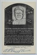 1956 A.c. Dazzy Vance Autograph Type 1 Artvue B And W Hof Post Card W Postmark