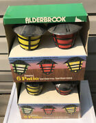 Vintage Alderbrook Patio Rv Camping Lanterns Lot Of 2 Packs Of 6 Multicolour New