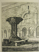 C1815 Antique Print Newcastle Water Well T M Richardson Etching By W Pybus