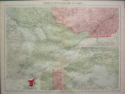 1940 Map Canada Ontario And Part Quebec Lake Superior Montreal City Plan