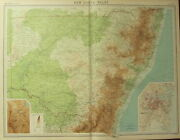 1922 Large Antique Map Australia New South Wales Plan Sydney Environs