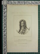 1800 Dated Antique Print John Lord Somers