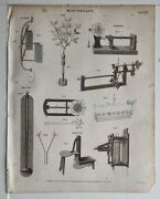 1818 Print Miscellany Sea Gage Pyrometer Marquetry Rain Gage