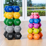 Metis Neoprene Hex Dumbbells [1-22lbs] | Gym/home Hand Weights Workout Pair