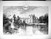 Old 1887 Wilton House Earl Pembroke England Architecture Montbard Fin 19th