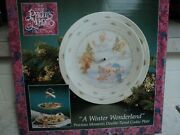 Precious Moments Winter Wonderland Double-tiered Cookie Plate- New In Box- Buy