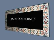 6and039x3and039 Handmade Black Marble Center Dining Pietra Dura Inlay Table Top