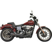 Bassani Road Rage Ripper 2 Into 1 Black Exhaust System Pipe Harley Dyna 91-05