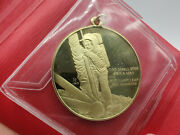 18k Gold First Step On The Moon Eyewitness Pendant By Franklin Mint W/ Coa