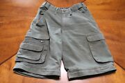 Boy Cub Scout Cotton / Poly Cargo Switchback Shorts - Youth 8 - Olive Bsa 136