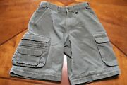 Boy Cub Scout Cotton / Poly Cargo Switchback Shorts - Youth 10 - Olive Bsa 137