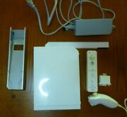 Nintendo Wii Console Lot W/ Accessories Controller Power - White Tested Works