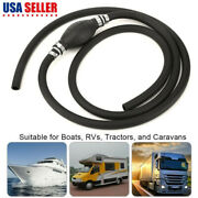Marine Outboard Boat Tractors Motor Fuel Gas Hose Line Assembly With Primer Bulb