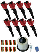 8 Energy Ignition Coils + Spark Plugs Tune Up Kits For Ford Mustang 4.6l Dg508
