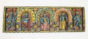 Antique Handcrafted God / Goddess Statue Panel Wood Hand Carved Wall Hanging Hom