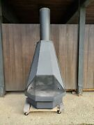 Extra Large Mid-century Modern Brutalist Vintage Fireplace, Cone Fireplace