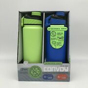 Manna Double-wall Vacuum Insulated Stainless Steel Convoy 32oz Water Bottles. Pr