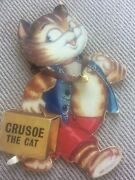 Rare Vintage 1964 Childrens Book Crusoe The Cat Illustrated By Top Sellers Ltd