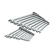 Sk Tools 19 Piece 12 Point Superkrome Metric Combination Wrench Set 86224