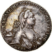 [970358] Coin Russia Catherine Ii Rouble 1764 Saint-petersburg Au Silver