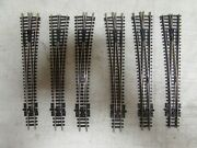 6 Peco Nickle/silver Switch Turnouts Code 80 N-scale Lot 81