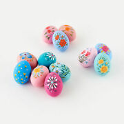 Floral Hand Painted Eggs Set Of 12 Paper Mache 3 Beautiful Colorful Eggs