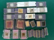Lot 27 Ic Cpu Chip Ic`s Vintage Ceramic Cpu For Gold Scrap Recovery Rare
