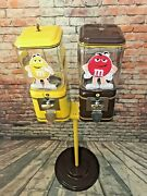 Double Peanuts And Chocolate Mandm's Candy Machine Vintage Acorn Gumball Candy