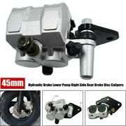 45mm Motorcycle Hydraulic Brake Lower Pump Right Side Rear Brake Disc Calipers